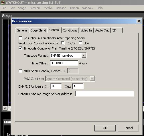 External Time Code control - WATCHOUT FORUM - Dataton Forum
